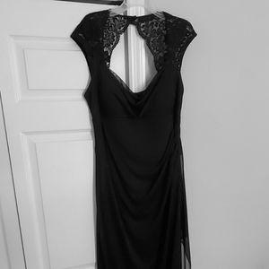 XScape Black, Open Back Floor length dress